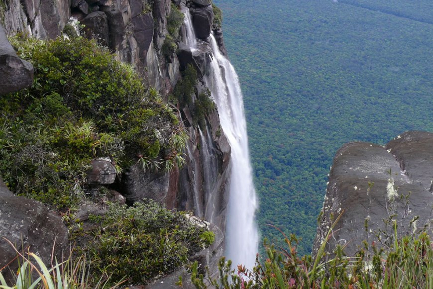 Spectacular Angel Falls in Canaima National Park