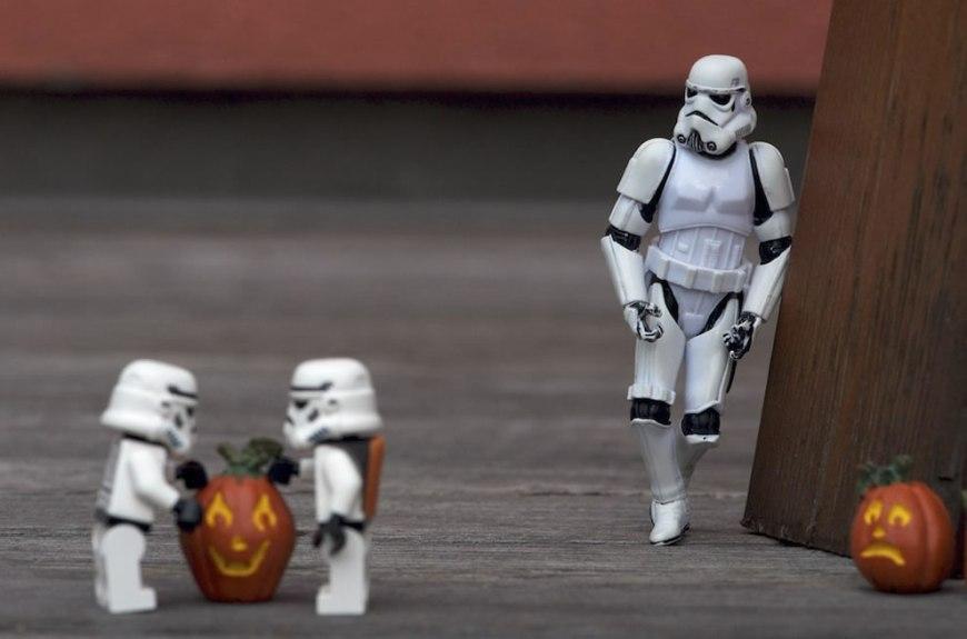 Stormtroopers choosing pumpkin