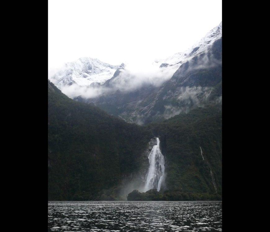 Bowen Falls at Milford Sound, New Zealand