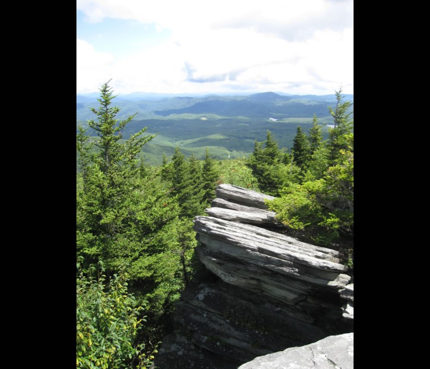 Flat Rock, Grandfather Mountain, Cherokee Woods, North Carolina, USA
