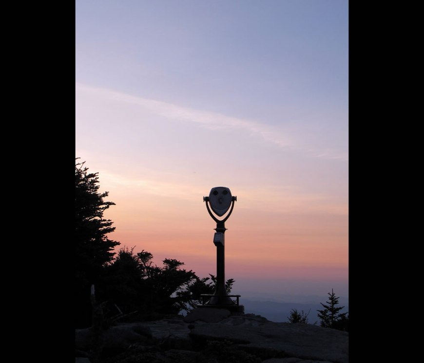 Grandfather Mountain before sunrise The Sentinel