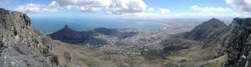Panorama Image of Cape Town taken from Table Mountain