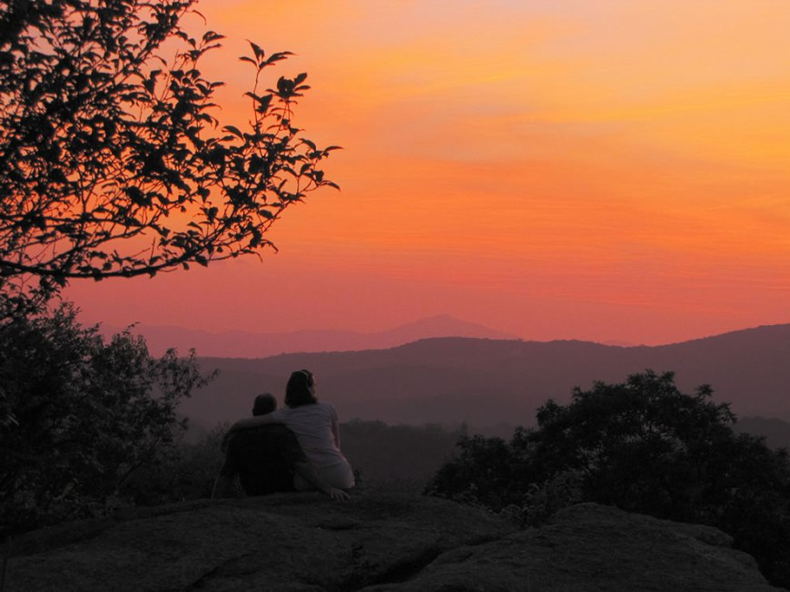 Sunset Watchers along the Blue Ridge Parkway