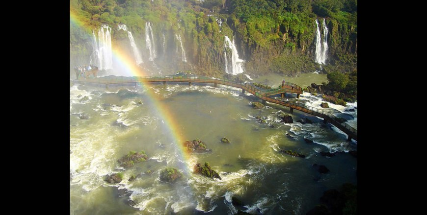 The area of Iguazu Falls
