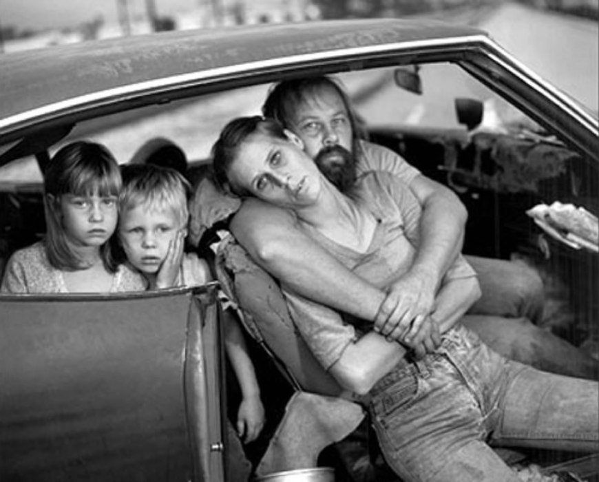 The Damm Family in Their Car, Los Angeles, CA