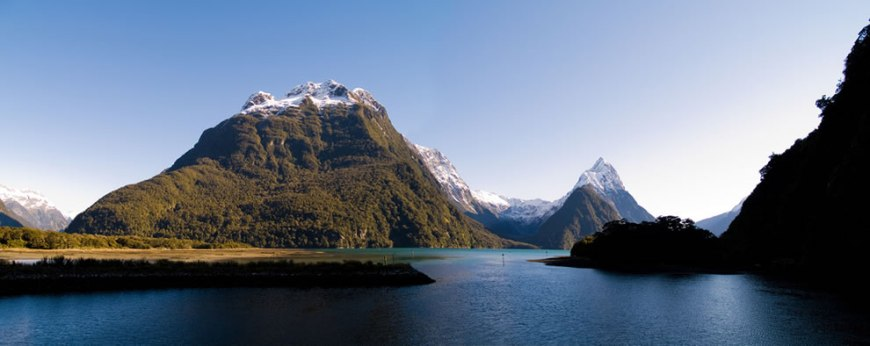 The view at the end of the Milford Track