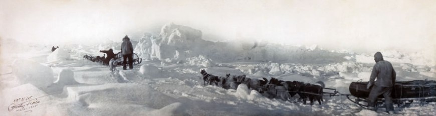 1905 -- 82 N. Latitude, panorama shot during the unsuccessful Ziegler polar expedition