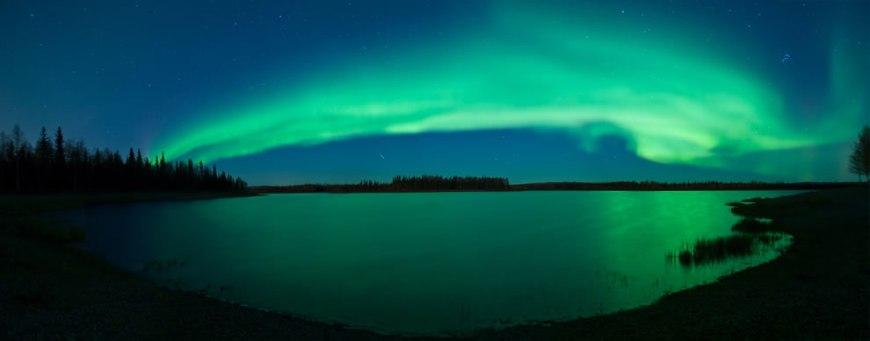 Aurora, Stars, Meteor, Lake, Alaska