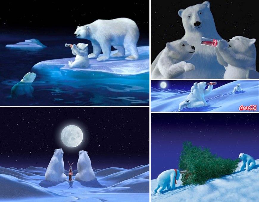 coke polar bears