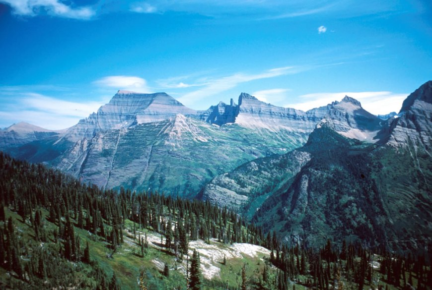 Glacier National Park, Montana. Mount Cleveland and Stoney Indian Peaks