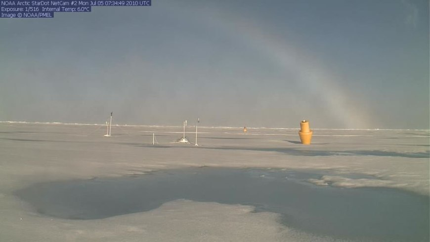 Rainbow seen by Camera 2 over North Pole