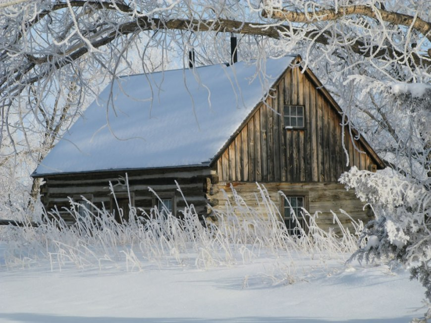 Winter at the Maltese Cross Cabin -- Theodore Roosevelt National Park