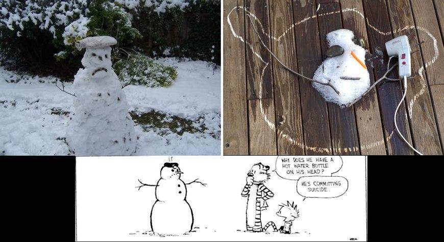Calvin & Hobbesesque Suicidal snowmen