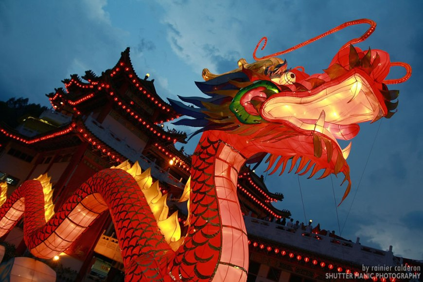 Chinese Dragon at Dusk
