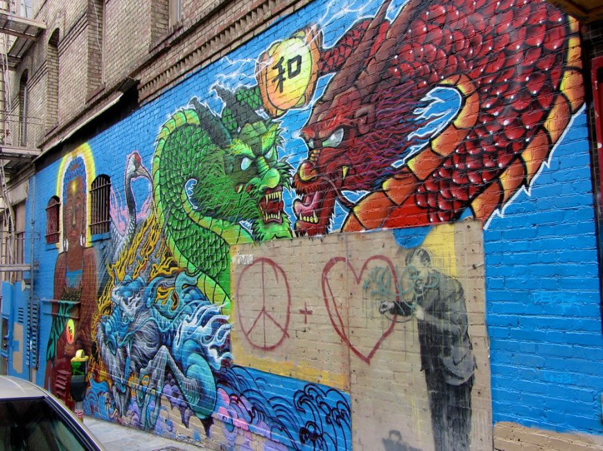 Dragons protecting Banksy