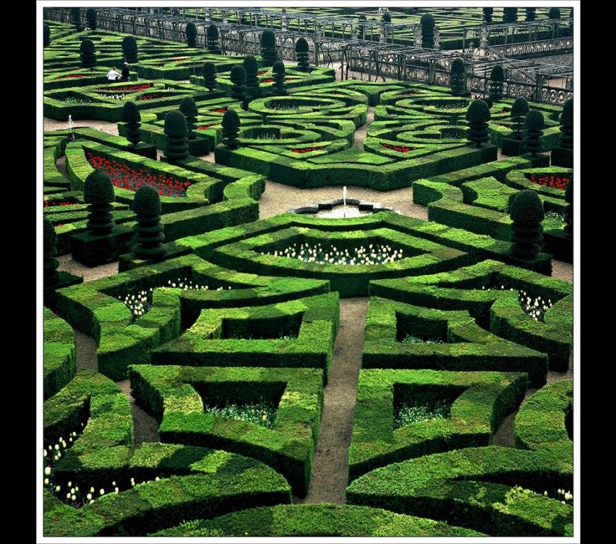 Chateau de Villandry gardens, Loire valley, France