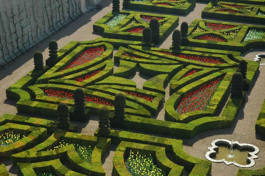 Incredible gardens of the château de Villandry