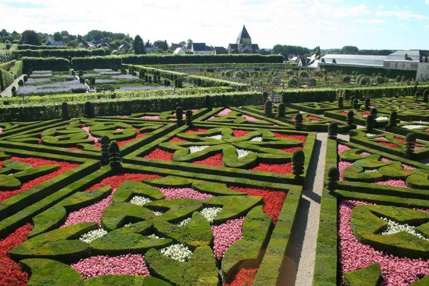 Jardin Francais - French gardens, in Villandry