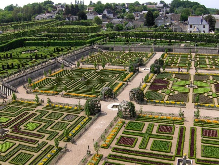 The château de Villandry, vegetable garden