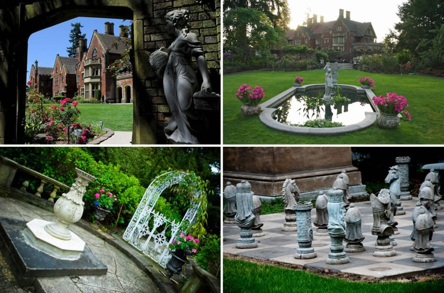 Thornewood Castle gardens