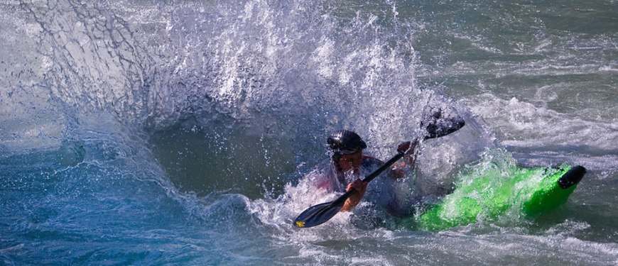 Ivrea, Italy kayaking power splash