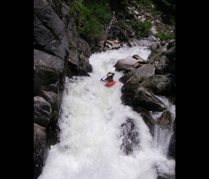 Jared Alexander creeking on Hazard Creek in Idaho