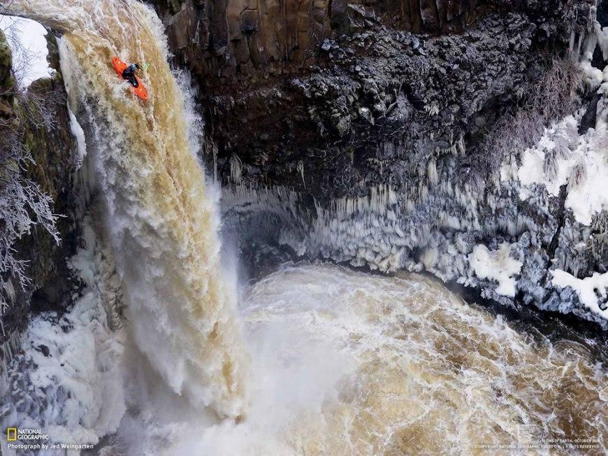 Kayak Waterfall Going
