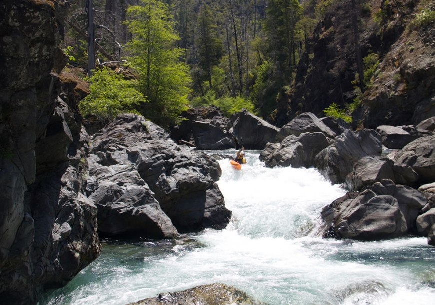 Kayaking Chetco River through the Kalmiopsis Wilderness, Oregon