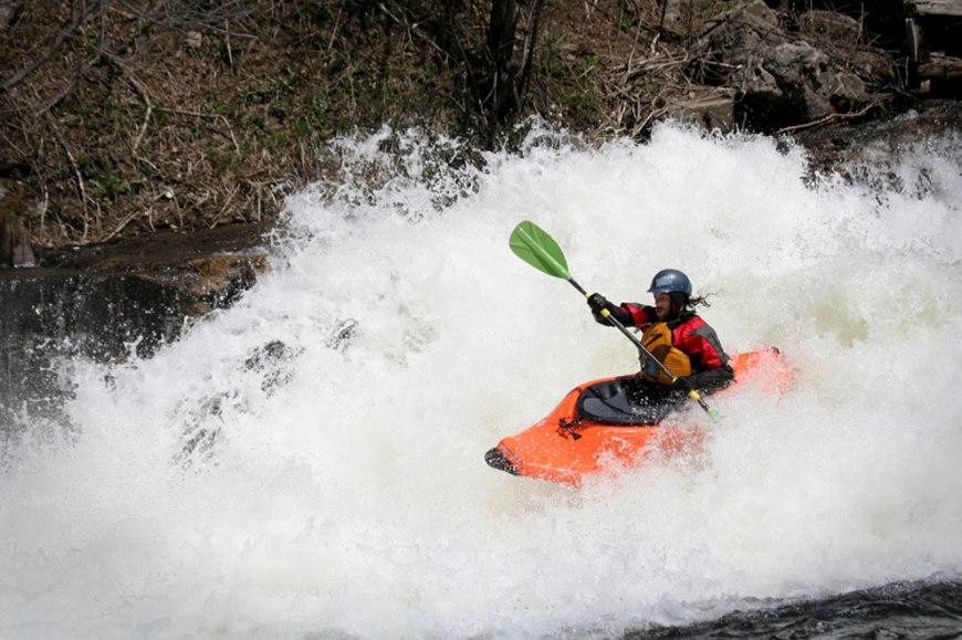 White water kayaking, Drag Creek, Ontario
