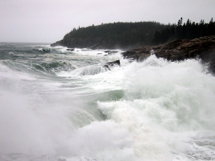 Acadia National Park -- Winter and heavy winter seas