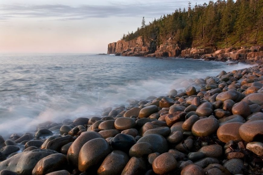 Along the shore of Acadia National Park in Maine