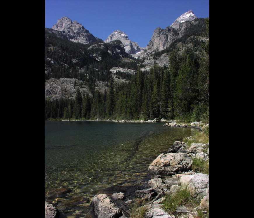 Bradley Lake looking up Garnet Canyon, Grand Teton