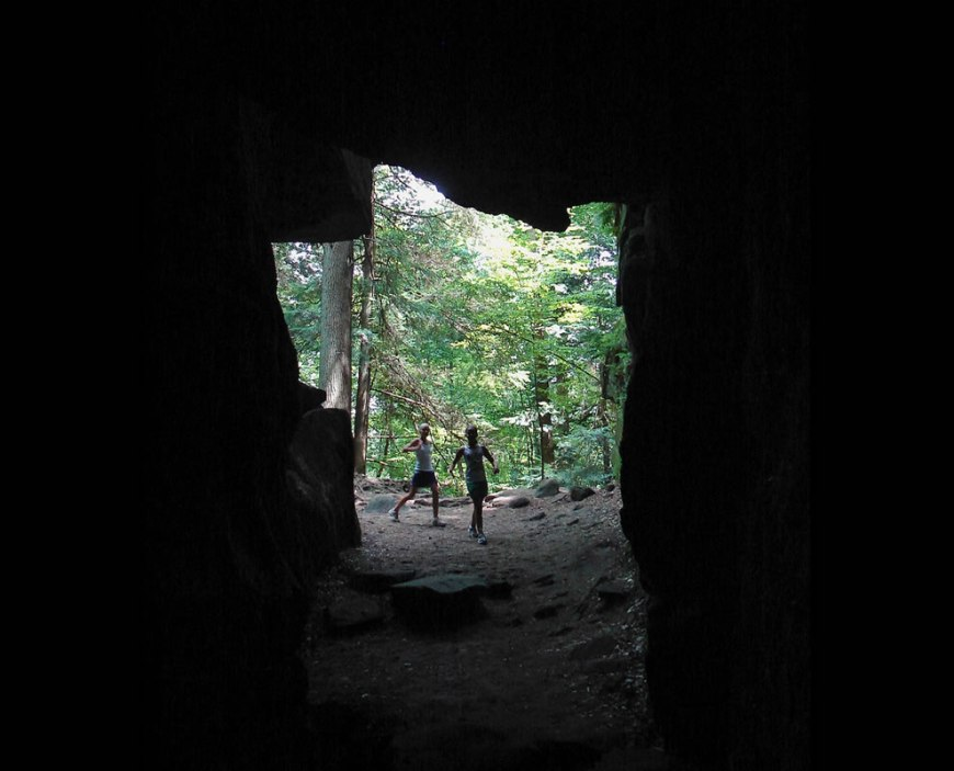 Cuyahoga Valley National Park -- Inside Ice Box Cave