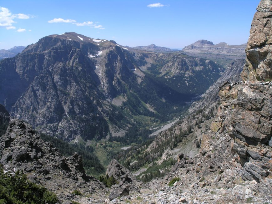 Death Canyon, Static Peak Trail, bird's eye view