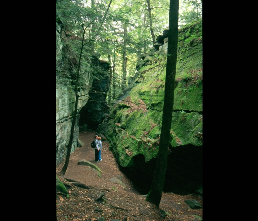 Hikers at Ledges in Cuyahoga Valley National Park