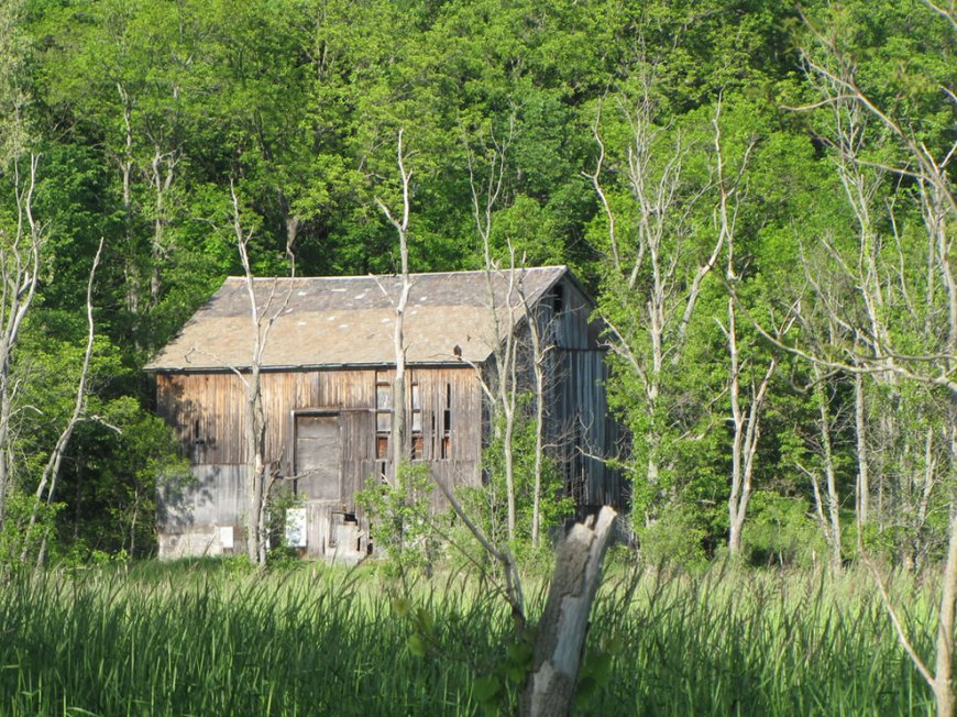 Old abandoned barn as seen when walking through the Cuyahoga Valley National Park
