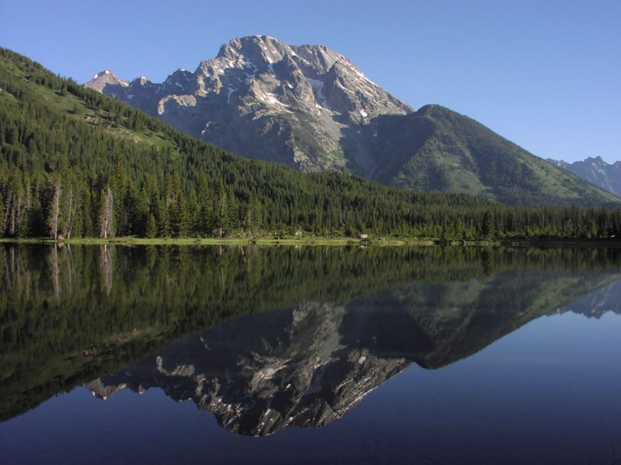 String Lake with Mount Moran reflection
