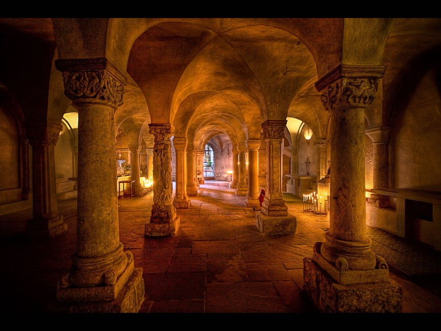 The Crypt at Freising Cathedral, also called Saint Mary and Corbinian Cathedral