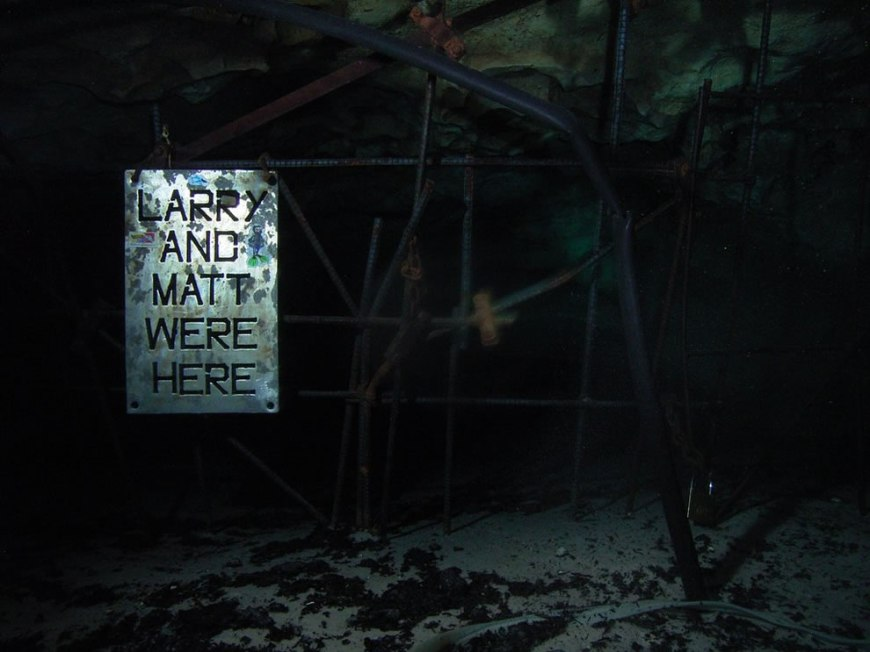 Gate of the cave at Vortex Spring - The depth at the Gate is about 110 feet