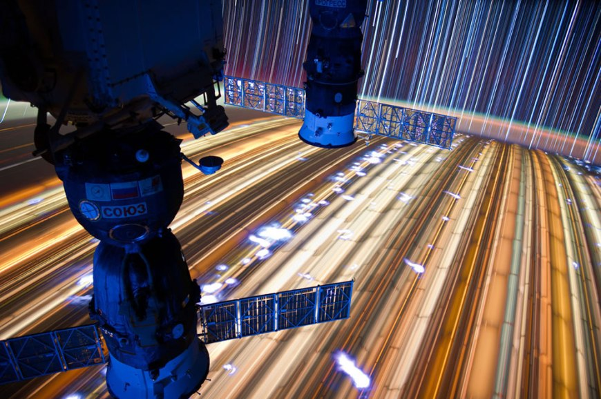 More timelapse star trails as seen from ISS Expedition 31