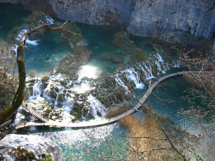 National Park Plitvice Lakes (Croatia), Barrier between Gavanovac and Kaluđerovac