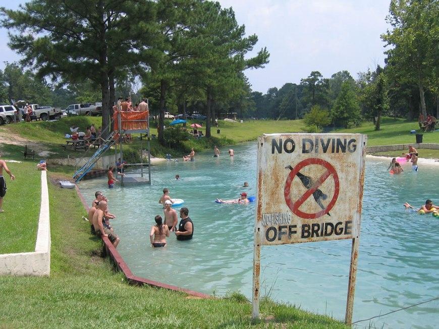 No Diving -- Vortex Spring