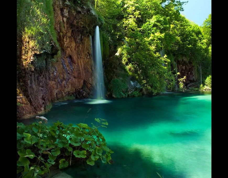 Phenomenal beauty of Plitvice waterfall