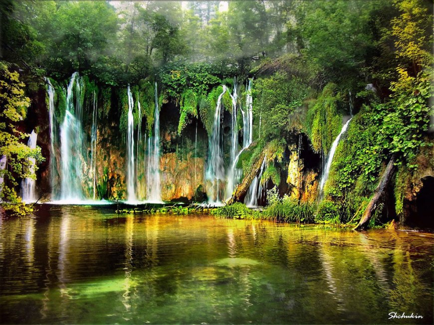The music of water at Plitvicka Lakes, Croatia