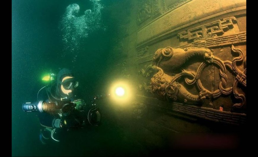 Underwater film crew explored Qiandao Lake and the ancient Lion City that was sunk half a century ago to build the Xin'an Jiang hydropower station