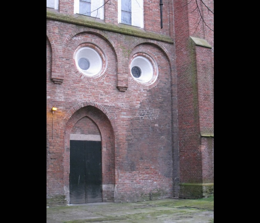 A face, the original OMG Wall at Groningen Netherlands