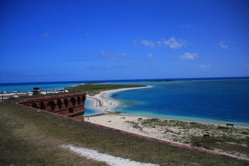 Dry Tortugas National Park preserves Fort Jefferson and the Dry Tortugas section of the Florida Keys