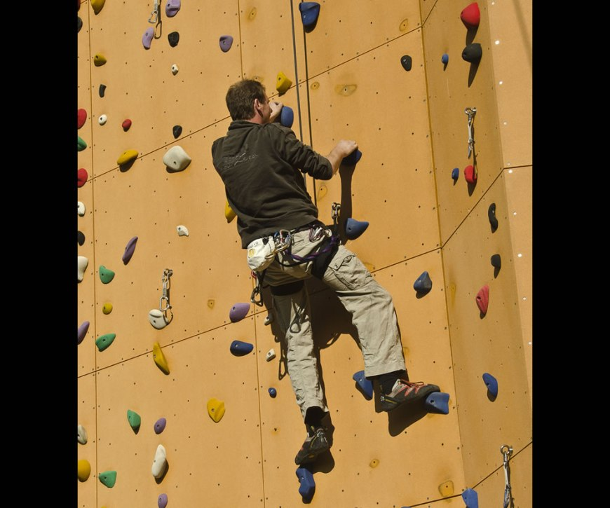 Dutch climber on Excalibur
