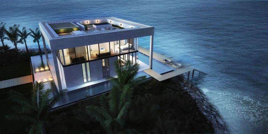 Arabian Gulf Infinity pools at exclusive Nurai Island Resort in Abu Dhabi