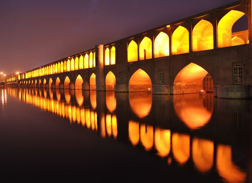 Wikimedia Commons Picture of the Year winners -- #10 – 32 votes in Final; Si-o-se Pol, also called the Allah-Verdi Khan Bridge, in Isfahan, Iran. It is highly ranked as being one of the most famous examples of Safavid bridge design -- Wolrd Photography Day